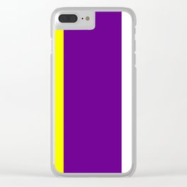 Team Colors 7..purple,yellow, white Clear iPhone Case