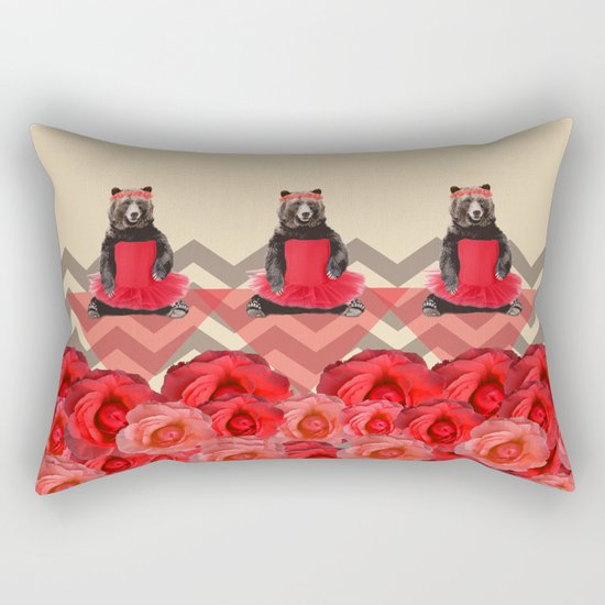 the bear who wanted to become a dancer Rectangular Pillow