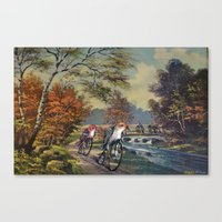 thegnarledbranch Canvas Prints featuring Approaching the Finch Line by TheGnarledBranch