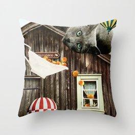 Swedish Cat Throw Pillow