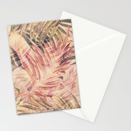 Palm Leaves in pink Stationery Cards
