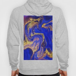 Marble gold and deep blue Hoody