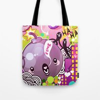 bombs away Tote Bags featuring Bombs by Acrylicana