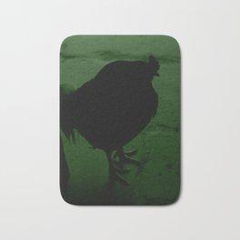 Rooster green tint Bath Mat