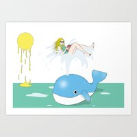 Whale of a time Art Print