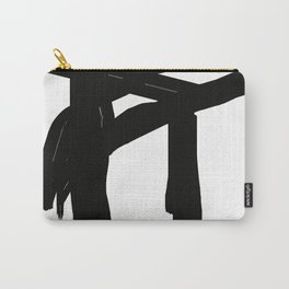 black an white Carry-All Pouch