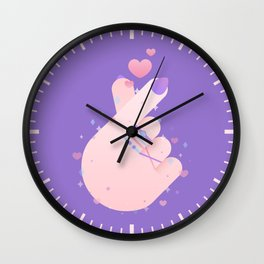 Korean Finger Heart Wall Clock