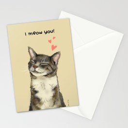 I meow you! Stationery Cards