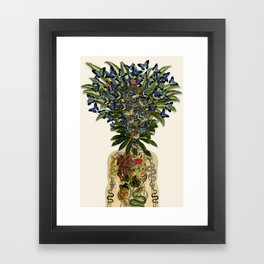 more than you thought anatomical collage by bedelgeuse Framed Art Print