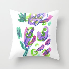 Dance of the Violets Throw Pillow
