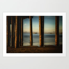 Pier to Pier Cal Poly Pier through Avila Pier San Luis Obispo Art Print