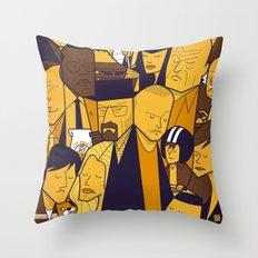 Breaking Bad (yellow version) Throw Pillow
