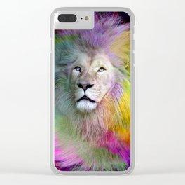 Rainbow Lion Clear iPhone Case