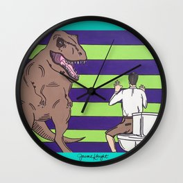 """Jurassic Park """"Died on the Shitter"""" Wall Clock"""