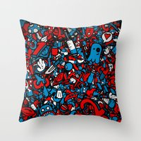 sketch Throw Pillows featuring Sketch by Mikhail St-Denis