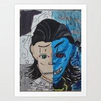 Loki The madness and sadness within  Art Print