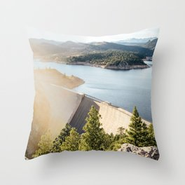 Gross Reservoir Sunset Throw Pillow