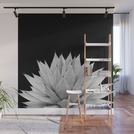 Agave Black & White Summer Night Vibes #1 #tropical #decor #art #society6 Wall Mural