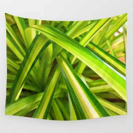 Spider Plant Leaves Wall Tapestry