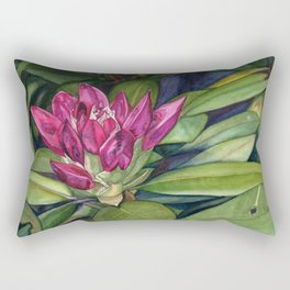Rhododendron Bud Rectangular Pillow