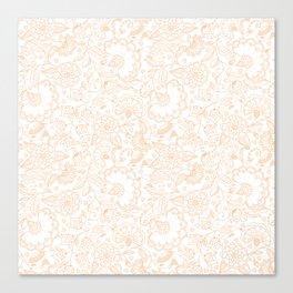 Fly EYES - Patterns ORANGE - flowers, floral Canvas Print