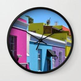 Bo-Kaap, South Africa #society6 #decor #buyart Wall Clock