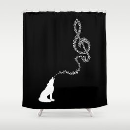 Midnight Symphony Shower Curtain