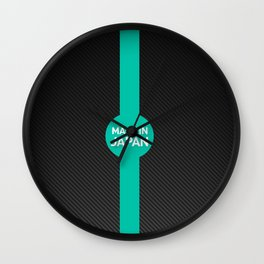Made in Japan Carbon Wall Clock