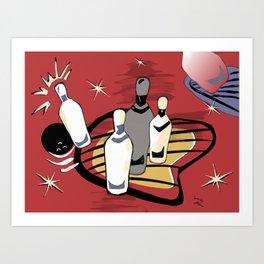 50's Bowling! Art Print