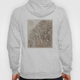 Vintage Map of The White Mountains (1870) Hoody
