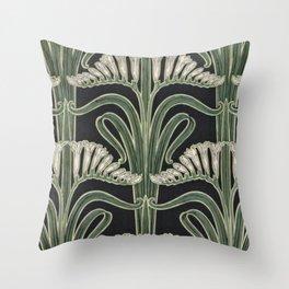 Art Nouveau Botanical Throw Pillow