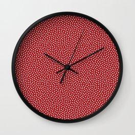 Little Dots Red Wall Clock