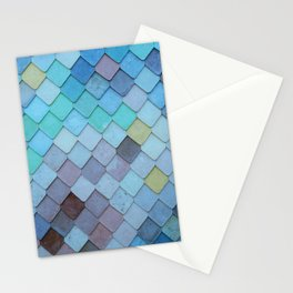 Blue Tiles (Color) Stationery Cards
