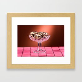 sponge cookies with chocolate icing Framed Art Print