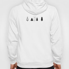 Pink Christmas Tree Forest Pattern Hoody
