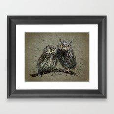 Little owl's background Framed Art Print