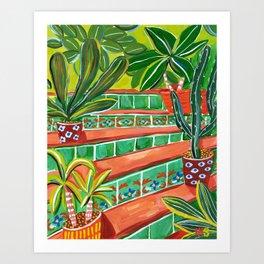 Moroccan stairway Art Print