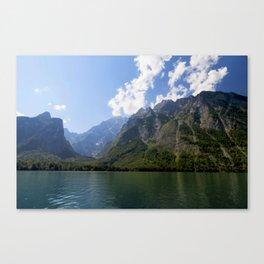 Bavaria - Alpes - Mountains Koenigssee Lake Canvas Print