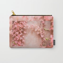 Wall abstract old ivy leaves Carry-All Pouch