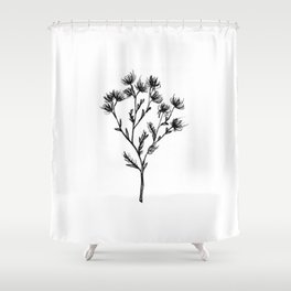 Wild Carrot Wildflower Shower Curtain