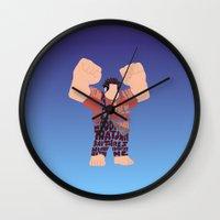 wreck it ralph Wall Clocks featuring Ralph by pokegirl93
