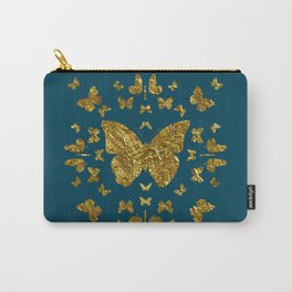 Butterfly kaleidoscope gold Carry-All Pouch