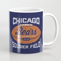 bears Mugs featuring Bears by Burnish and Press