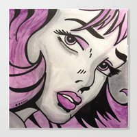 pinup Canvas Prints featuring Pinup  by Vicki Henrich
