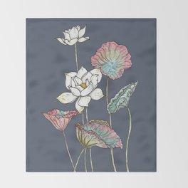 Lotus Symphony Throw Blanket