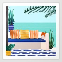 Tropical Villa On The Sea Art Print