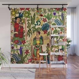 Frida's Garden, Casa Azul Lush Greenery Frida Kahlo Landscape Painting Wall Mural