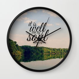 Well with My Soul Wall Clock