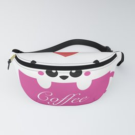 CAT LOVES COFFEE Fanny Pack