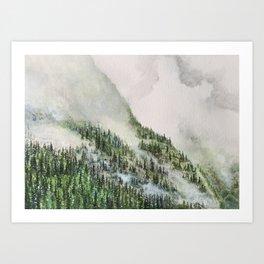 Misty Mountainside of Brule Art Print